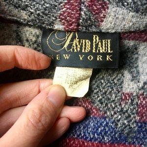 Vintage Jackets & Coats - {Vintage} Wool Blend Cropped Aztec Print Jacket PL